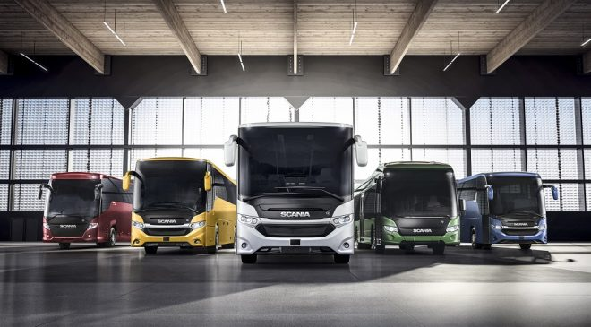 Scania presenta a Busworld il nuovo veicolo ibrido Scania Interlink LD