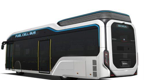 """Toyota presenta il prototipo """"Sora"""", l'autobus alimentato da celle a combustile"""